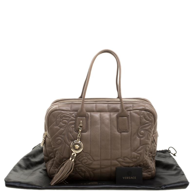 d2a5b39645 Versace Brown Leather Demetra Vanitas Top Handle Bag at 1stdibs