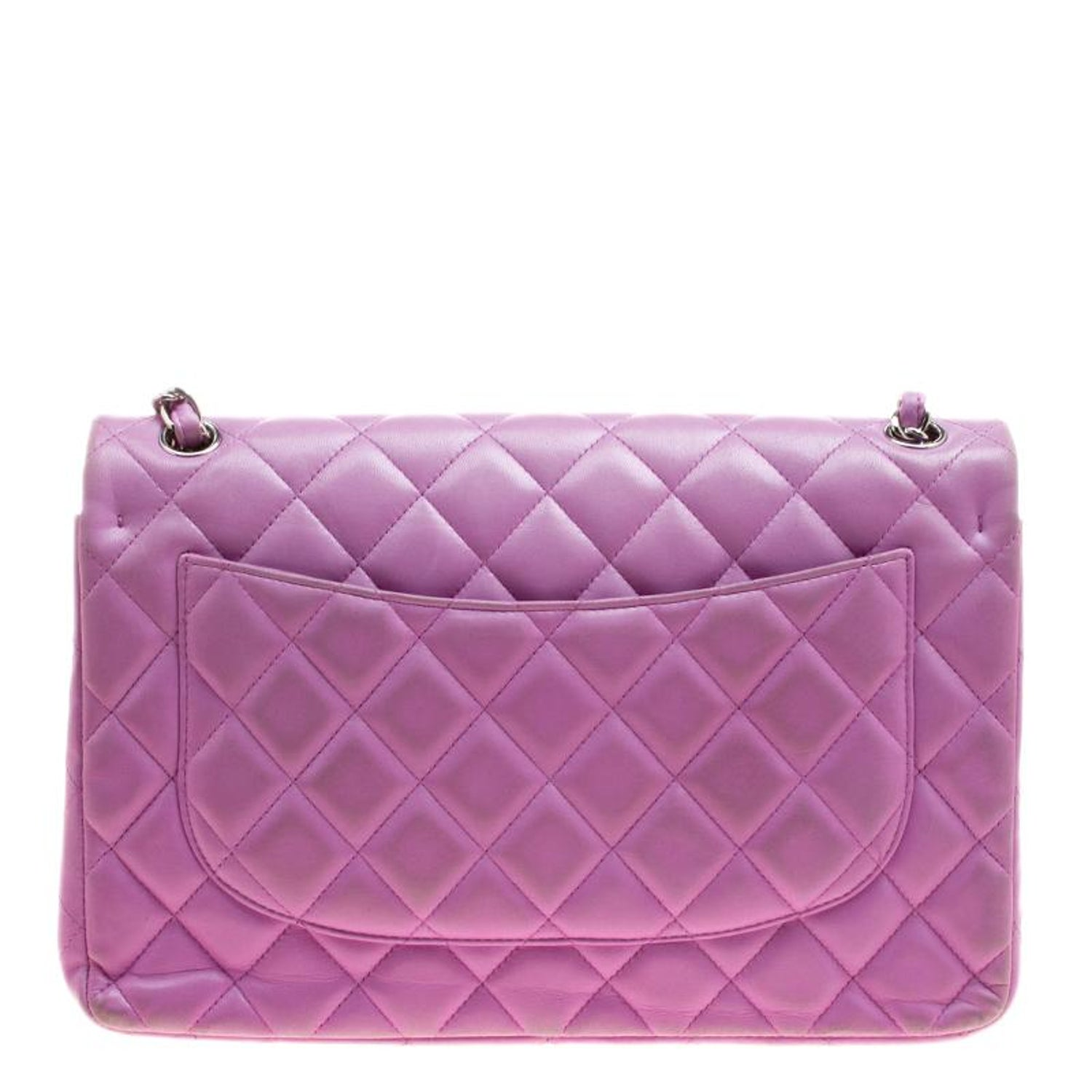 a38197f72d15 Chanel Lilac Quilted Leather Jumbo Classic Double Flap Bag at 1stdibs