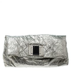Louis Vuitton Silver Monogram Fabric Limited Edition Altair Clutch