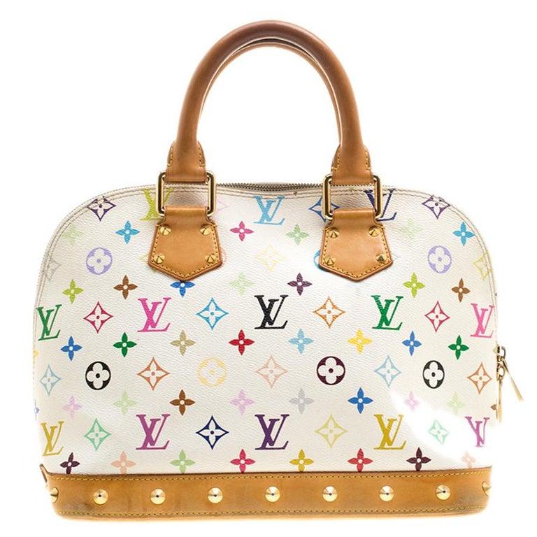 e94951b1c46e1 Louis Vuitton Weiß Mehrfarbig Monogram Alma PM Tasche bei 1stdibs