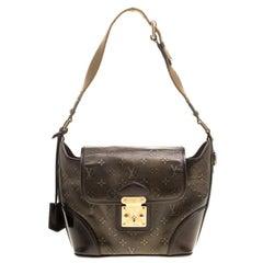 Louis Vuitton Bronze/Dark Brown Monogram Embossed Leather Limited Edition Sergen