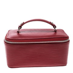 Louis Vuitton Red Epi Leather Vanity Jewelry Case