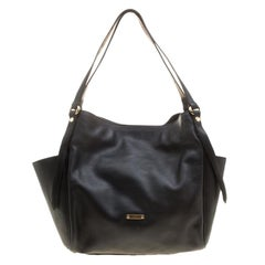 Burberry Black Leather Small Canterbury Tote