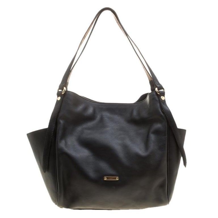 Burberry Black Leather Small Canterbury Tote at 1stdibs de4985c97f0b6
