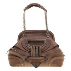 Dior Brown Leather Jeanne Frame Satchel
