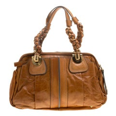 Chloe Cognac Leather Small Heloise Bag