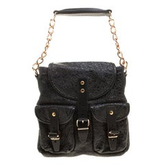 Balenciaga Black Textured Leather Mini Sac Bag