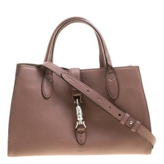 Gucci Dusty Pink Leather Jackie Tote