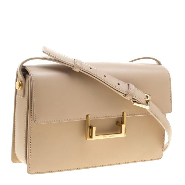 Saint Laurent Beige Leather Medium Lulu Shoulder Bag In Good Condition For  Sale In Dubai 4ee141d4ceb48