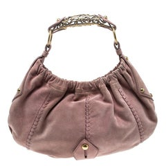 Saint Laurent Paris Pink Suede Vincennes Mombasa Hobo