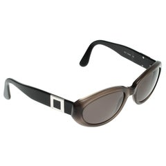 Bvlgari Black/Brown 810 Oval Sunglasses