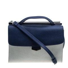 Fendi Multicolor Textured Leather Small Demi Jour Shoulder Bag