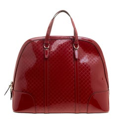 Gucci Red Microguccissima Patent Leather Large Nice Top Handle Bag