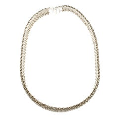 Tiffany & Co. Somerset Mesh Silver Choker Necklace