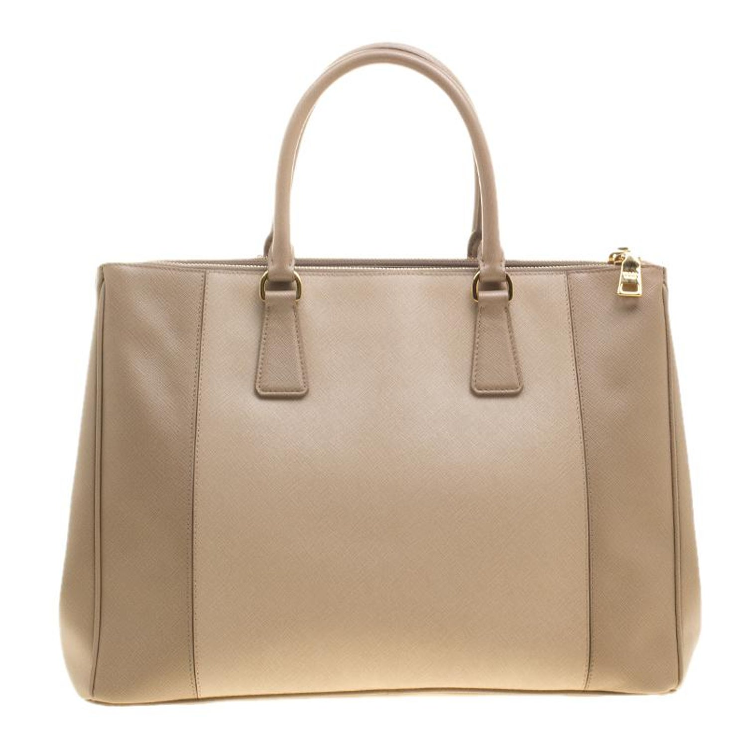 0d11d498a263 Prada Beige Saffiano Lux Leather Large Double Zip Tote For Sale at 1stdibs