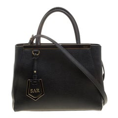 Fendi Black Leather Petit 2Jours Elite Tote