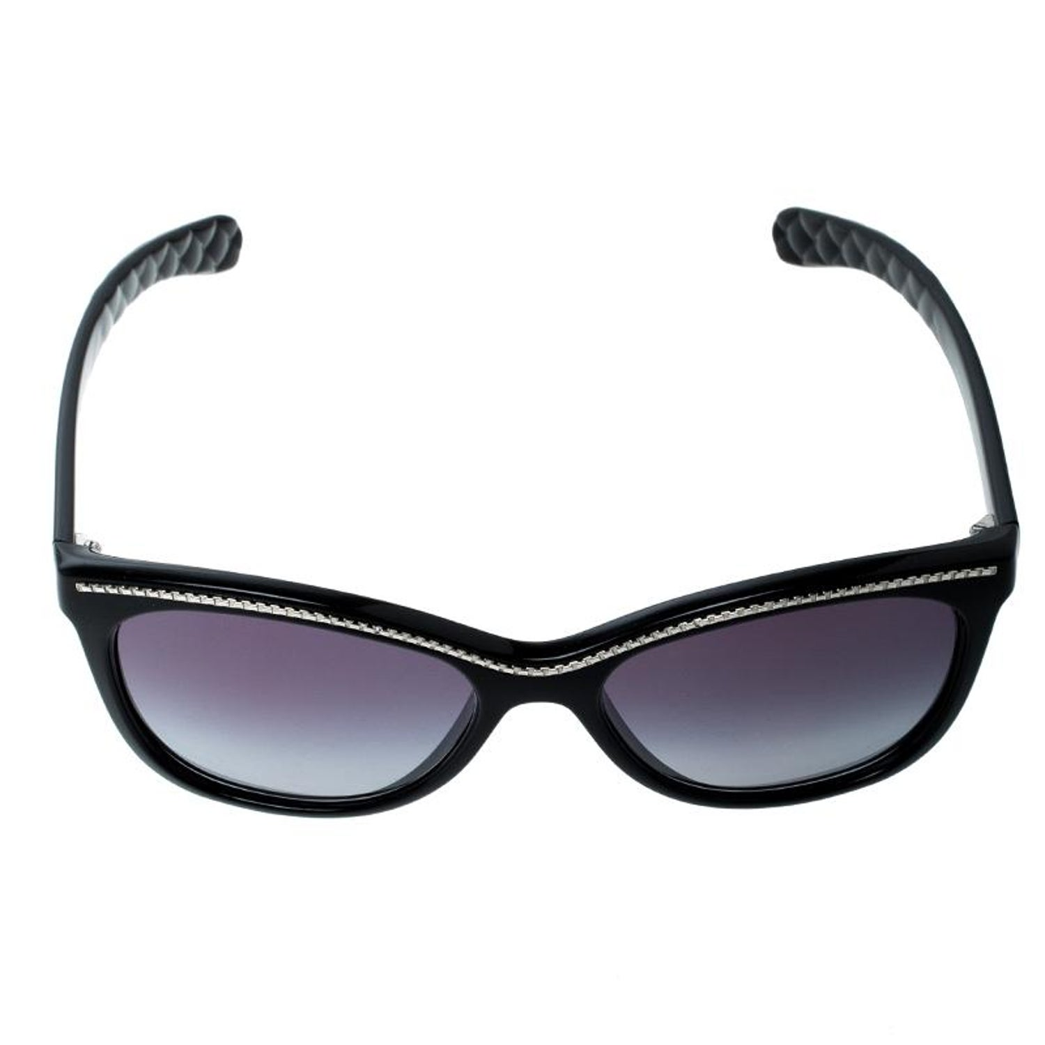 9cec65f9cea7c Chanel Black Grey Gradient 6041 Cat Eye Sunglasses For Sale at 1stdibs