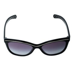 Chanel Black/Grey Gradient 6041 Cat Eye Sunglasses