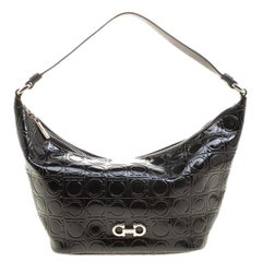 998c17e387 Salvatore Ferragamo Ginette Chain Shoulder Bag Quilted Leather Large ...