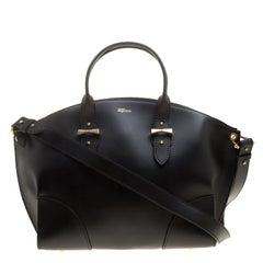 Alexander McQueen Black Leather Legend Satchel