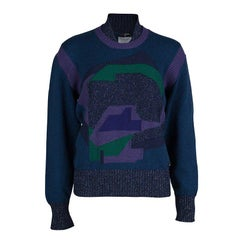 Chanel Multicolor Lurex Knit Sweater L