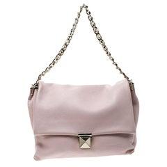 Valentino Blush Pink Leather Chain De Jour Shoulder Bag