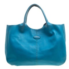 Tod's Blue Leather Shoulder Bag