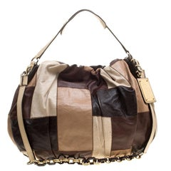 Dolce and Gabbana Multicolor Patchwork Leather Miss Night and Day Hobo