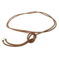 Louis Vuitton Brown Braided Leather Belt