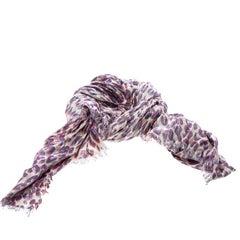 Louis Vuitton Beige Animal Printed Lurex Fringed Edge Stole
