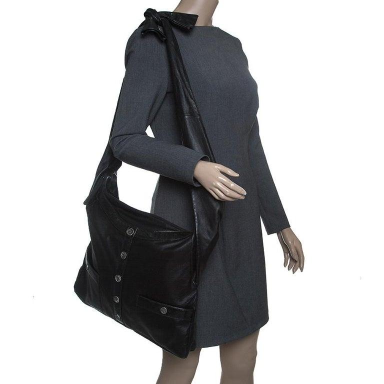 Chanel Schwarze Große Leder Tasche Girl Chanel 3 8122b960f4305