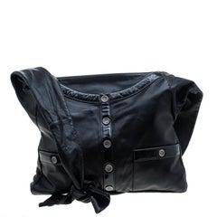Chanel Black Leather Large Girl Chanel Bag