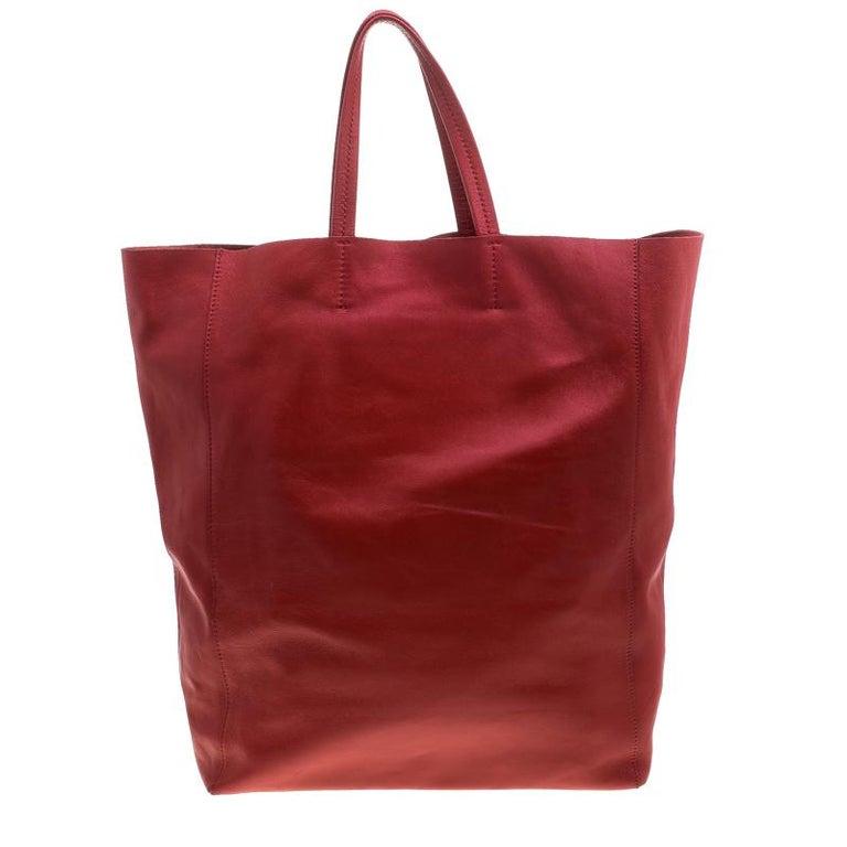 89eaf75fecee9 Celine Rote Leder Cabas Tragetasche im Angebot bei 1stdibs