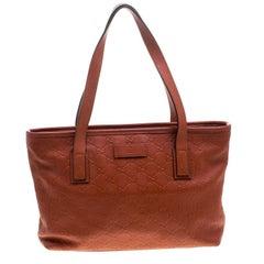 Gucci Orange Guccissima Leather Tote