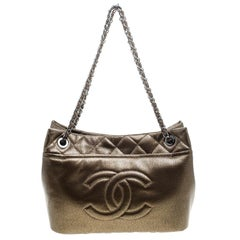 Chanel Bronze Leather Timeless CC Soft Shopping Tote