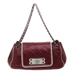Chanel Red Quilted Leather Accordion Reissue Shoulder Bag