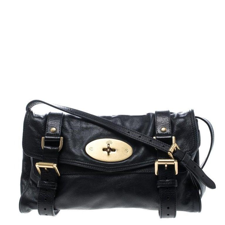 d4e5ebaacc29 Mulberry Black Leather Alexa Shoulder Bag For Sale at 1stdibs