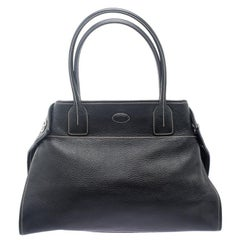 Tod's Black Leather Girelli Tote