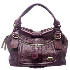 Chloe Burgundy Patent Leather Large Bay Hobo