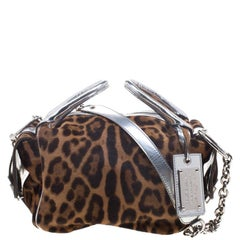 Dolce and Gabbana Brown Leopard Print Calf Hair Bag