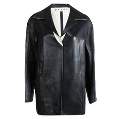Marni Black Leather Jacket S