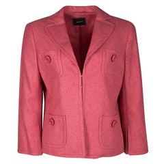 Akris Pink Cashmere Linen Jacket L