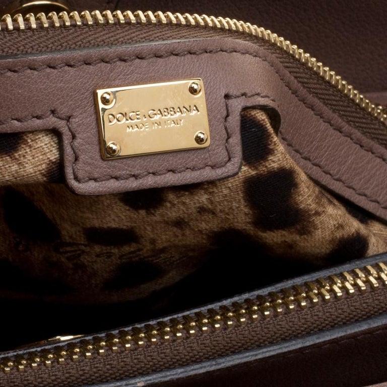 a95074148af3a Dolce und Gabbana Braune Leder Miss Sizilien Tasche bei 1stdibs
