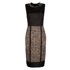 D&G Brown and Black Textured Sleeveless Dress M