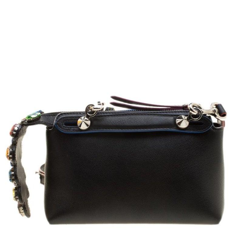 a9c7ed1a Fendi Black Leather Mini By The Way Crossbody Bag