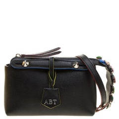 Fendi Black Leather Mini By The Way Crossbody Bag