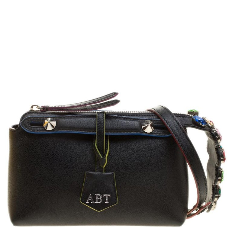 850f6165ed59 Fendi Black Leather Mini By The Way Crossbody Bag at 1stdibs