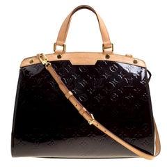 Louis Vuitton Terre D'Ombre Monogram Vernis Brea GM Bag
