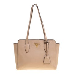 Prada Light Brown Leather Shoulder Bag