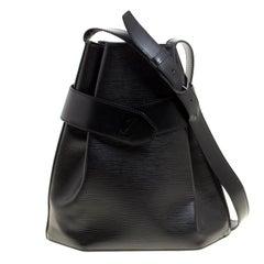 Louis Vuitton Black Epi Leather Sac D'epaule PM Bag